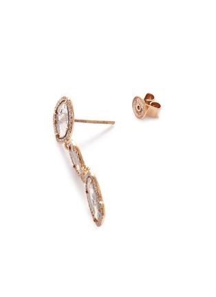 Detail View - Click To Enlarge - MONIQUE PÉAN - Diamond slice 18k gold drop earrings