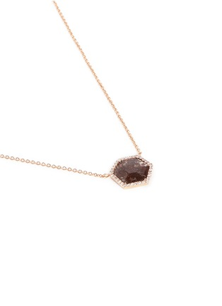 Figure View - Click To Enlarge - Monique Péan - Diamond slice 18k recycled rose gold pendant necklace