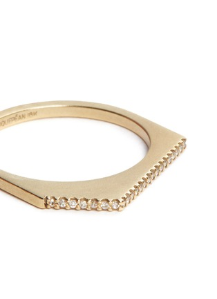 Detail View - Click To Enlarge - Monique Péan - Diamond 18k recycled yellow gold geometric stacking ring