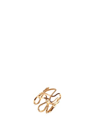 Main View - Click To Enlarge - REPOSSI - 'White Noise' 18k rose gold ring