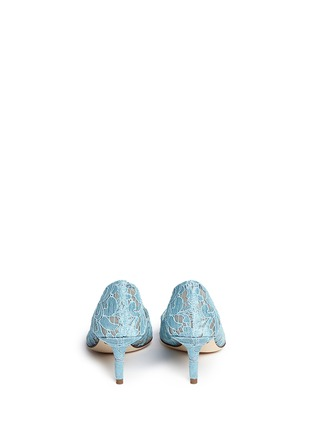 Back View - Click To Enlarge - Dolce & Gabbana - 'Bellucci' jewel brooch lace pumps