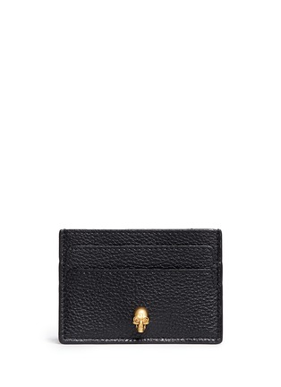 Main View - Click To Enlarge - Alexander McQueen - Skull leather card holder