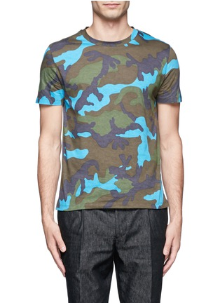 Main View - Click To Enlarge - VALENTINO - Camouflage print cotton T-shirt