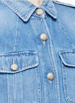 Detail View - Click To Enlarge - Closed - 'Blade' denim military long jacket