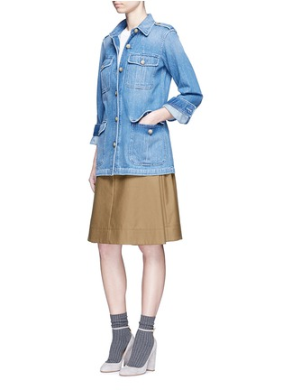 Figure View - Click To Enlarge - Closed - 'Blade' denim military long jacket