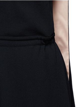 Detail View - Click To Enlarge - VALENTINO - Drawstring waist halterneck jumpsuit
