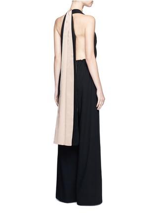 Figure View - Click To Enlarge - Valentino - Drawstring waist halterneck jumpsuit