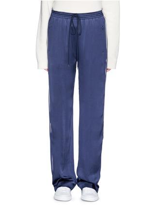 Main View - Click To Enlarge - Chloé - Piped trim silk satin pyjama pants