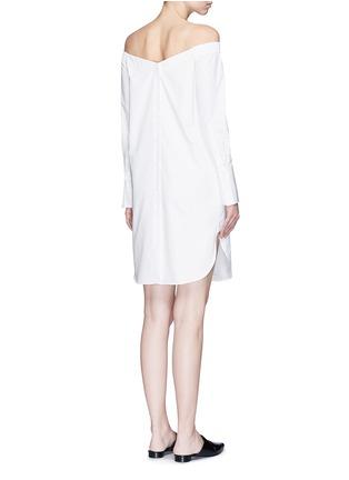 Back View - Click To Enlarge - RAG & BONE - 'Kacy' off-shoulder cotton poplin dress