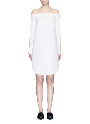 Main View - Click To Enlarge - RAG & BONE - 'Kacy' off-shoulder cotton poplin dress