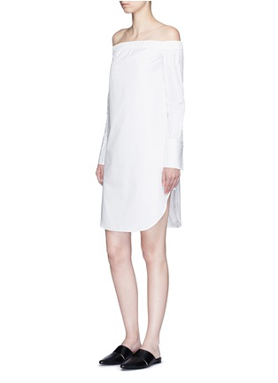 Figure View - Click To Enlarge - RAG & BONE - 'Kacy' off-shoulder cotton poplin dress