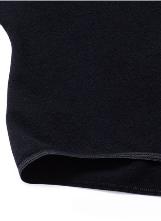 Detail View - Click To Enlarge - Alaïa - Point collar wool blend knit bodysuit