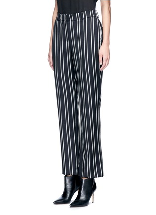 Front View - Click To Enlarge - GIVENCHY - Stripe wool suiting pants