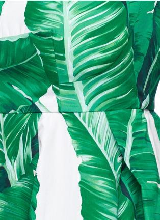 Detail View - Click To Enlarge - Dolce & Gabbana - Banana leaf print poplin maxi dress