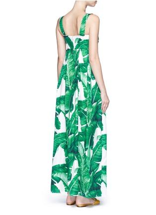 Back View - Click To Enlarge - Dolce & Gabbana - Banana leaf print poplin maxi dress