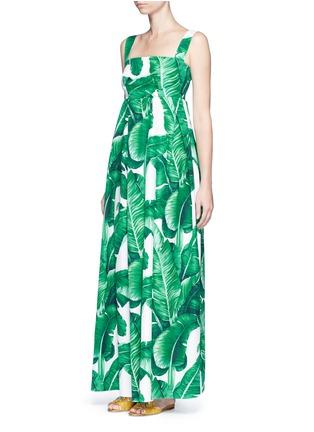 Figure View - Click To Enlarge - Dolce & Gabbana - Banana leaf print poplin maxi dress