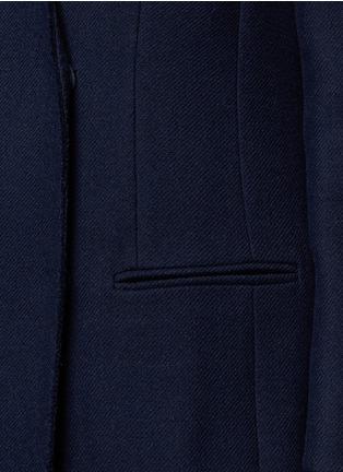 Detail View - Click To Enlarge - Lanvin - Felt collar wool blend coat