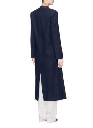 Back View - Click To Enlarge - Lanvin - Felt collar wool blend coat