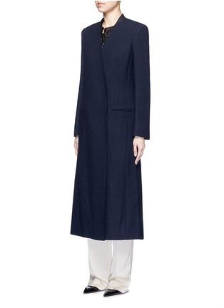 Front View - Click To Enlarge - Lanvin - Felt collar wool blend coat