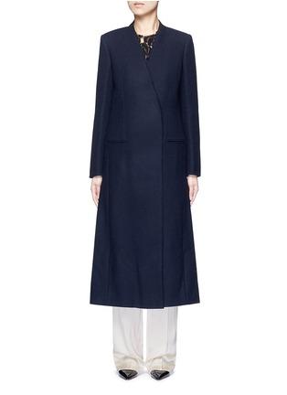 Main View - Click To Enlarge - Lanvin - Felt collar wool blend coat