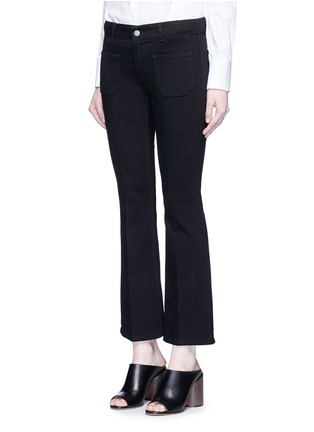 Front View - Click To Enlarge - Stella McCartney - Cotton blend denim pants