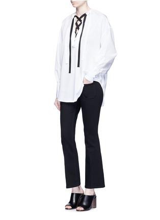 Figure View - Click To Enlarge - Stella McCartney - Cotton blend denim pants