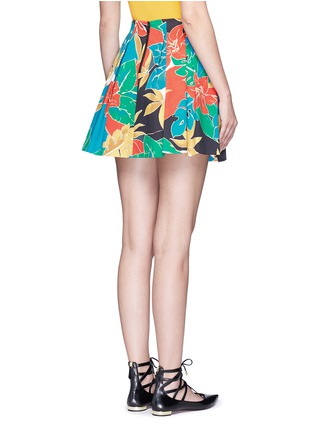 Back View - Click To Enlarge - alice + olivia - 'Connor' floral print box pleat skirt