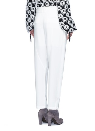 Back View - Click To Enlarge - Chloé - Drawstring waist dropped crotch pants
