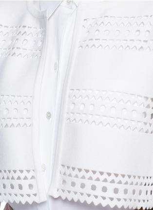 Detail View - Click To Enlarge - Alaïa - 'Vienne d'hiver' geometric cutout cropped cardigan