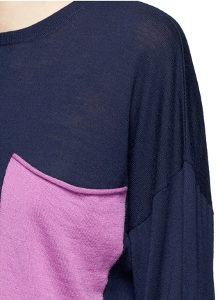 Detail View - Click To Enlarge - Ports 1961 - Colourblock pocket wool sweater