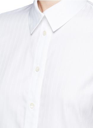 Detail View - Click To Enlarge - Balenciaga - Pinstripe poplin sleeveless shirt