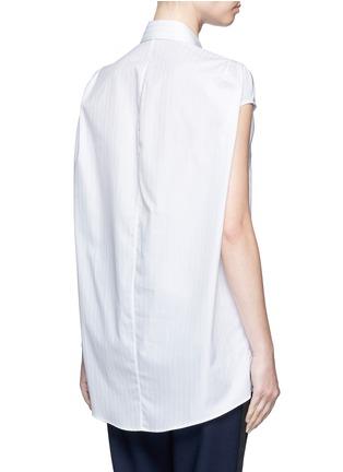 Back View - Click To Enlarge - Balenciaga - Pinstripe poplin sleeveless shirt