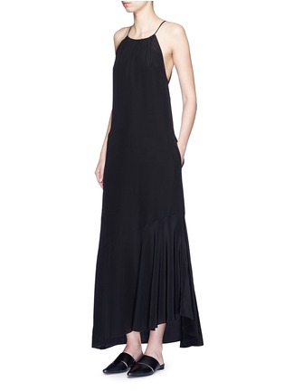 Figure View - Click To Enlarge - THEORY - 'Ressie' halterneck asymmetric silk dress