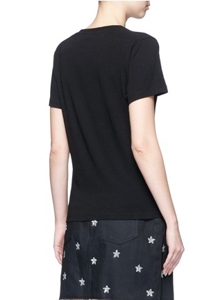 Back View - Click To Enlarge - SAINT LAURENT - 'New York Academy' print jersey T-shirt