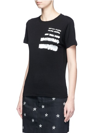 Front View - Click To Enlarge - SAINT LAURENT - 'New York Academy' print jersey T-shirt
