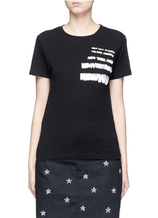 Main View - Click To Enlarge - SAINT LAURENT - 'New York Academy' print jersey T-shirt