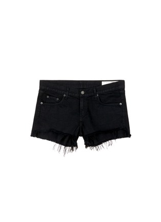 Main View - Click To Enlarge - RAG & BONE/JEAN - 'Cut Off' frayed denim shorts