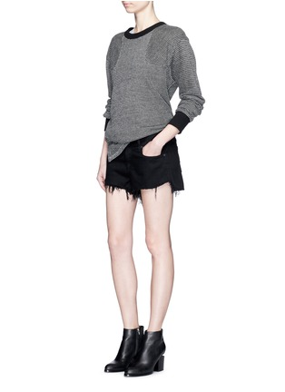 Figure View - Click To Enlarge - RAG & BONE/JEAN - 'Cut Off' frayed denim shorts