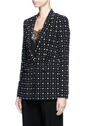 Front View - Click To Enlarge - GIVENCHY - Mix floral print blazer
