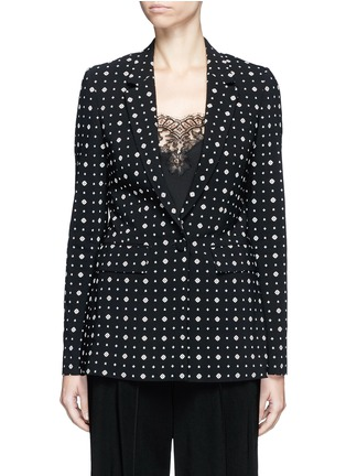 Main View - Click To Enlarge - GIVENCHY - Mix floral print blazer