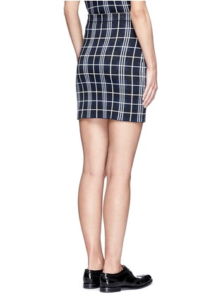 Back View - Click To Enlarge - Theory - 'Teslianna B' plaid knit skirt