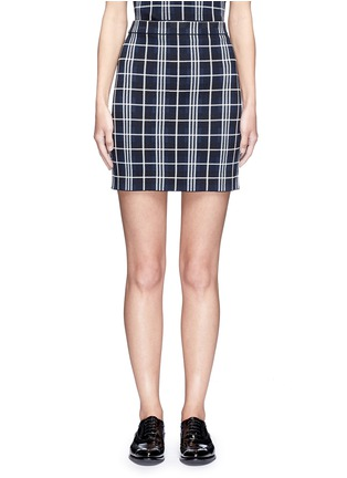 Main View - Click To Enlarge - Theory - 'Teslianna B' plaid knit skirt
