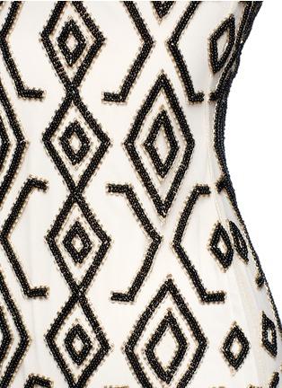 Detail View - Click To Enlarge - alice + olivia - 'Arlette' tribal bead embellished midi dress