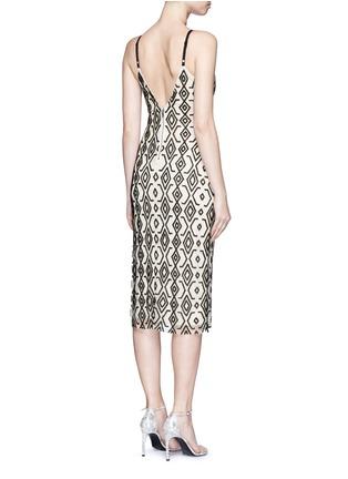 Back View - Click To Enlarge - alice + olivia - 'Arlette' tribal bead embellished midi dress