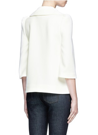 Back View - Click To Enlarge - Co - Flared collar crepe top