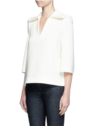 Front View - Click To Enlarge - Co - Flared collar crepe top