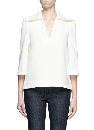 Main View - Click To Enlarge - Co - Flared collar crepe top