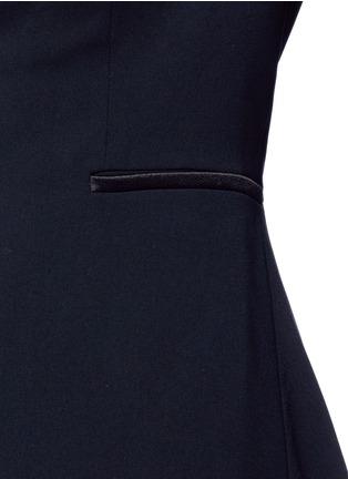 Detail View - Click To Enlarge - alice + olivia - 'Jordyn' drape back crepe blazer