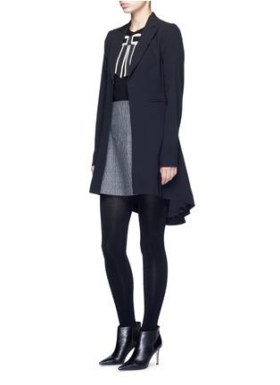 Figure View - Click To Enlarge - alice + olivia - 'Jordyn' drape back crepe blazer