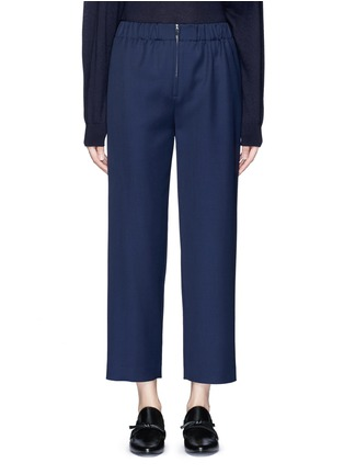 Main View - Click To Enlarge - The Row - 'Arez' zip elastic waist virgin wool pants
